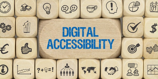 wooden blocks with Digital Accessibility written on them
